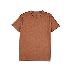 Burton - Rust marl crew neck t-shirt