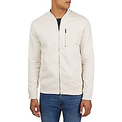 Burton - Cream jersey bomber jacket with contrast pocket