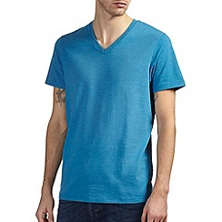Burton - Bright blue v neck t-shirt