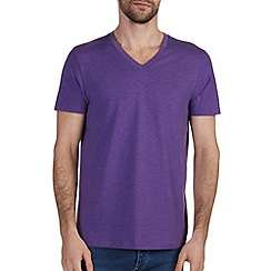 Burton - Purple marl vee neck t-shirt