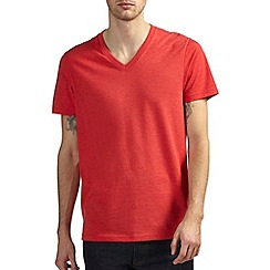 Burton - Red v neck t-shirt