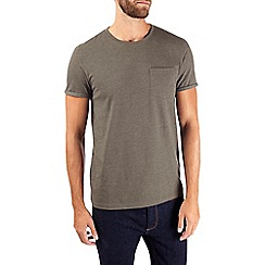 Burton - Dark khaki basic t-shirt