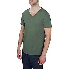 Burton - Khaki v-neck t-shirt