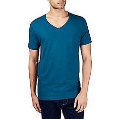 Burton - Teal v-neck t-shirt