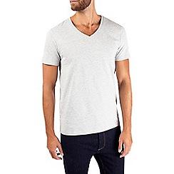 Burton - Grey marl v-neck t-shirt