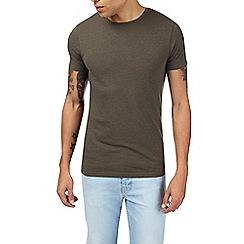Burton - Dark khaki muscle fit t-shirt