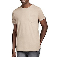 Burton - Light brown roll sleeve t-shirt