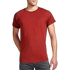 Burton - Rust orange roll sleeve t-shirt