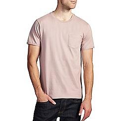 Burton - Dusky pink roll sleeve t-shirt