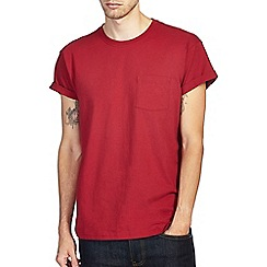 Burton - Bright red roll sleeve t-shirt