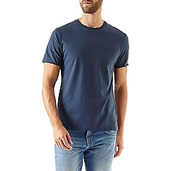 Burton - Navy roll sleeve t-shirt