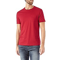 Burton - Red roll sleeve t-shirt