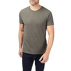 Burton - Dark khaki crew neck t-shirt