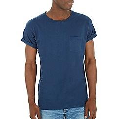 Burton - Navy basic roll sleeve t-shirt