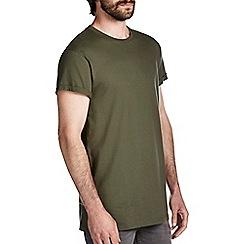 Burton - Khaki green longline t-shirt