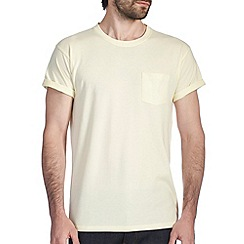 Burton - Lemon marl roll sleeve t-shirt