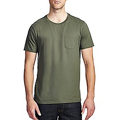 Burton - Khaki green roll sleeve t-shirt