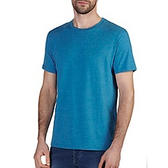 Burton - Bright blue marl crew neck t-shirt