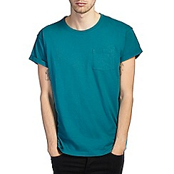 Burton - Teal green roll sleeve t-shirt
