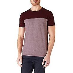 Burton - Burgundy cut and sew t-shirt