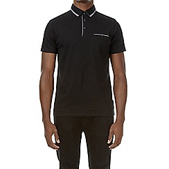 Burton - Black double collar polo shirt