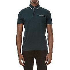 Burton - Emerald green double collar polo shirt