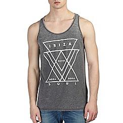 Burton - Grey & white ibiza printed vest