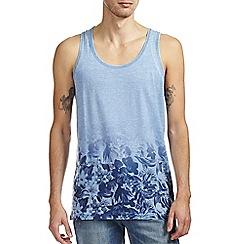 Burton - Blue burnout floral hem vest