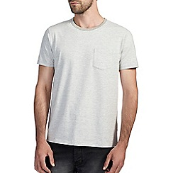 Burton - Light grey feeder stripe t-shirt