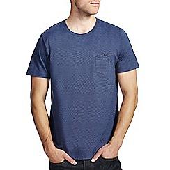 Burton - Navy feeder stripe t-shirt