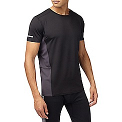 Burton - Sports black mesh panel t-shirt