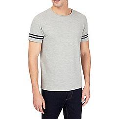 Burton - Grey pique tip sleeve t-shirt