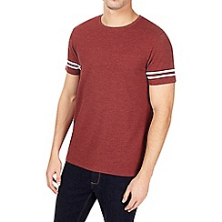 Burton - Red pique tip sleeve t-shirt