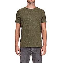 Burton - Khaki nepp textured t-shirt
