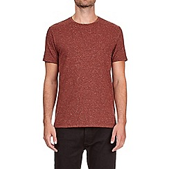 Burton - Red nepp textured t-shirt