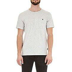 Burton - Ecru multi nepp textured t-shirt