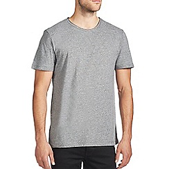 Burton - Grey grindle raw edge t-shirt