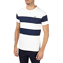 Burton - Ecru stripe block t-shirt