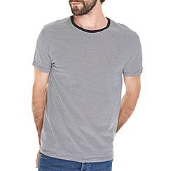 Burton - Navy thin stripe t-shirt