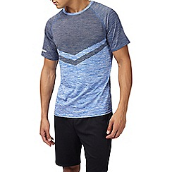 Burton - Sports blue chevron t-shirt