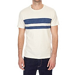 Burton - Ecru and navy stripe t-shirt