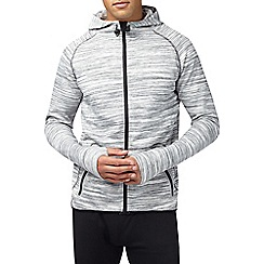 Burton - Sports grey textured hoodie