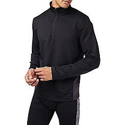Burton - Sports black zip neck top
