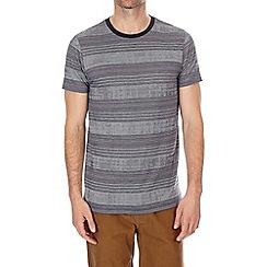 Burton - Grey texture stripe t-shirt