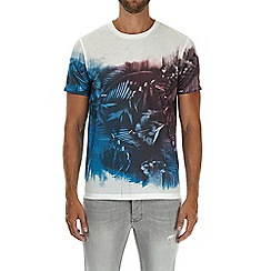 Burton - White, blue and red floral print t-shirt