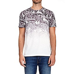 Burton - White and grey palm fade print t-shirt