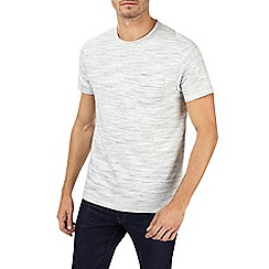 Burton - Ecru textured t-shirt