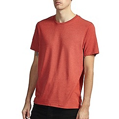 Burton - Brick red marl crew neck t-shirt*