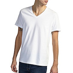 Burton - White basic v-neck t-shirt*
