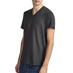 Burton - Charcoal v-neck basic t-shirt*
